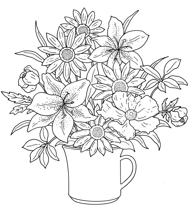 advanced coloring pages spring - photo#12