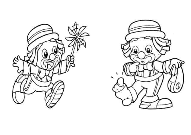 ilustração palhaços