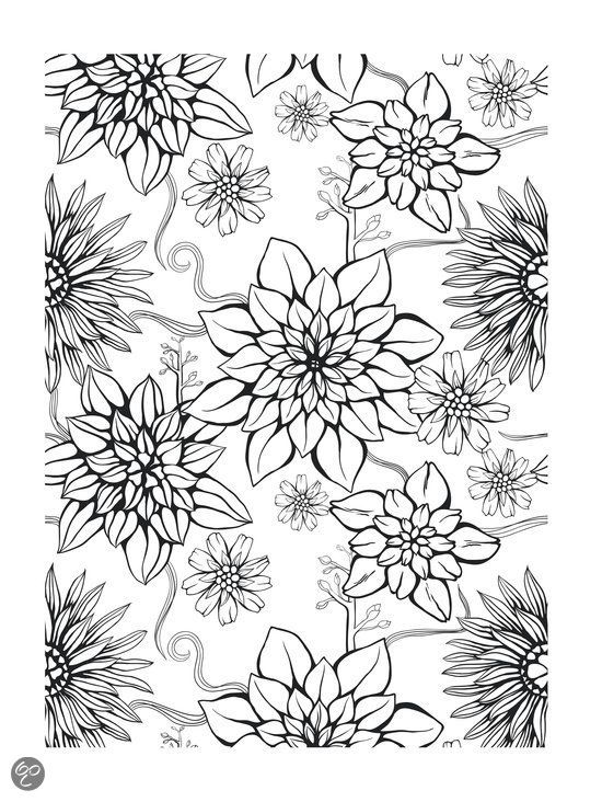 desenho colorir flores infantil