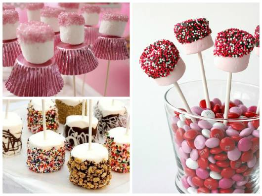 ideias de doce com marshmallow para chá de bebê