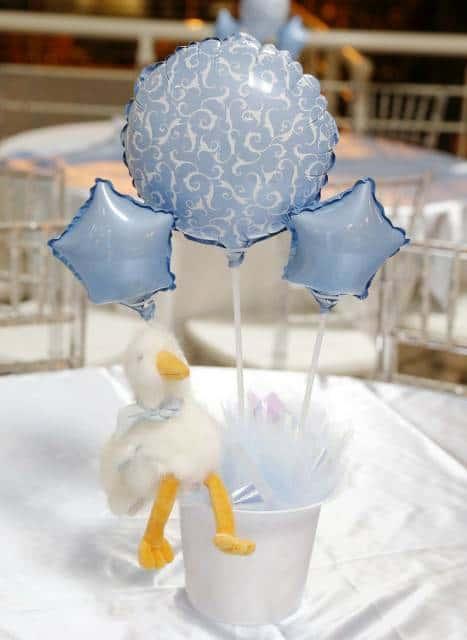 balões de enfeite mesa no chá de bebê