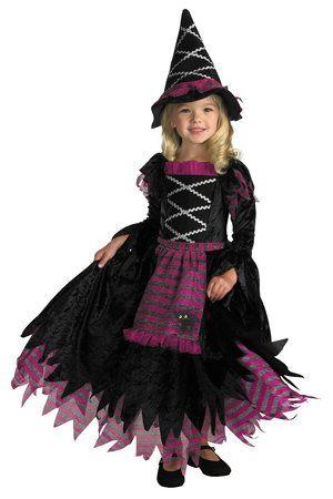 fantasia bruxa infantil preta e roxa