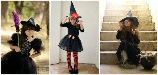 dicas  fantasias simples de bruxa infantil