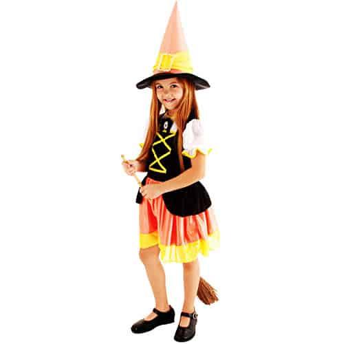fantasia bruxa infantil colorida