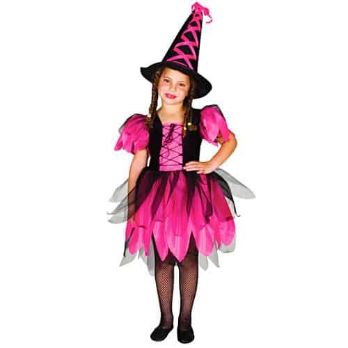 fantasia rosa bruxa infantil