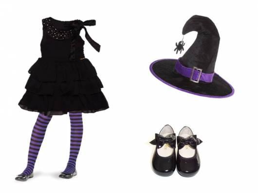 fantasia improvisada bruxa infantil