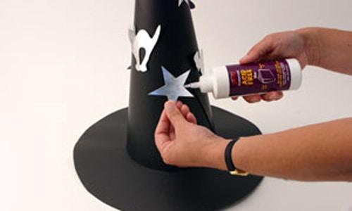 dica de como fazer chapéu de bruxa