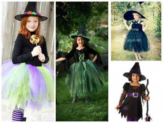 modelos de fantasia bruxa infantil