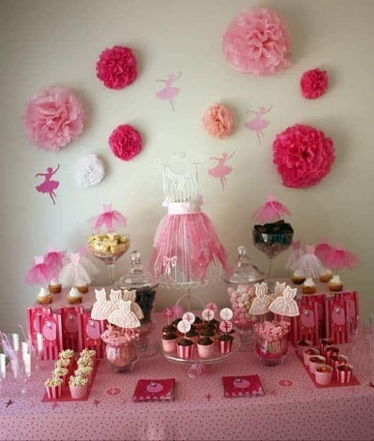 festa 16 anos rosa de bailarina