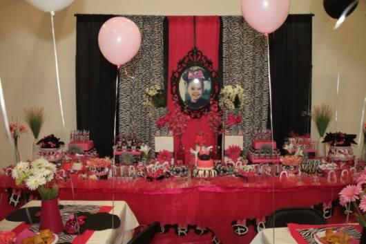 festa aniversario infantil minnie simples