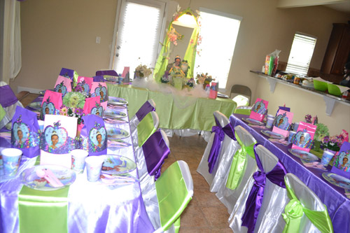 dicas para decoração de mesas de festa da princesa e o sapo