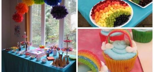 decoração festa arco-iris simples