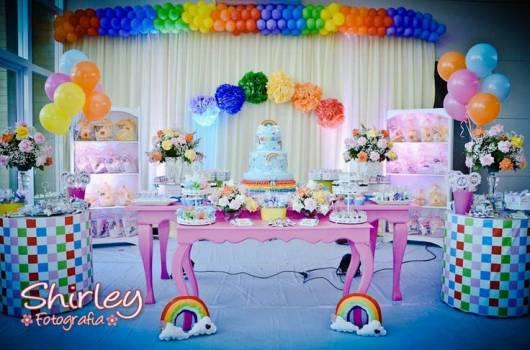 como decorar festa arco-iris