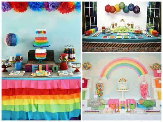 dicas de decoração festa arco-iris