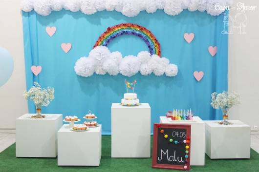 festa arco-iris simples