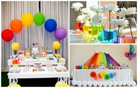 decoração festa arco-iris