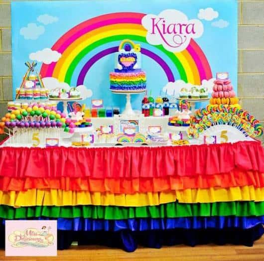 festa arco-iris infantil