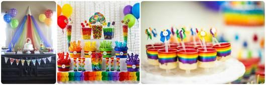 ideias para festa arco-iris