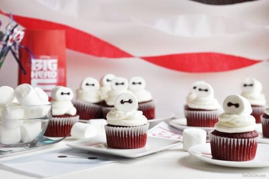 dica de cupcake para festa big hero