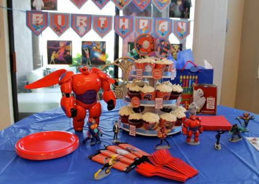 ideias para decoração de festa big hero