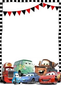 Disney Cars Invitation is awesome invitation template