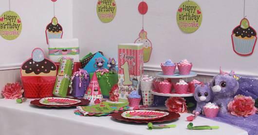 detalhes de decoração cupcakeland 1 ano