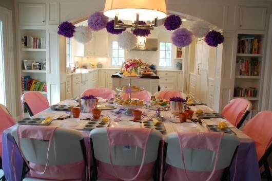 decoração cupcakeland feita em casa