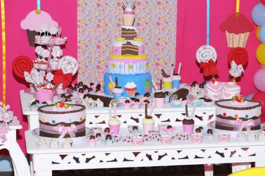 decoração de festa cupcake provençal