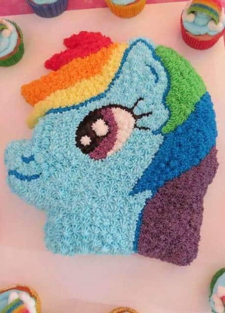 bolo decorado  my little pony