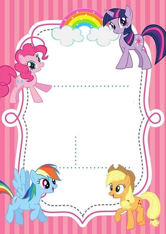 modelo convite para imprimir  my little pony