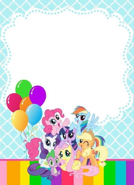 convite festa  my little pony