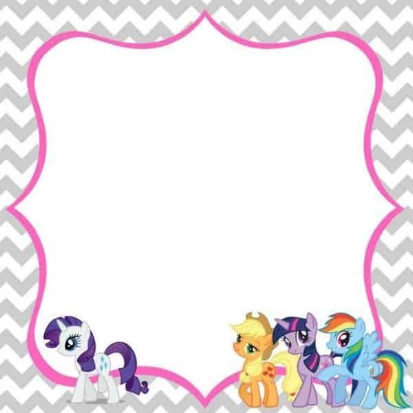 convite para imprimir grátis  my little pony