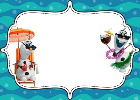 convite Olaf no verão