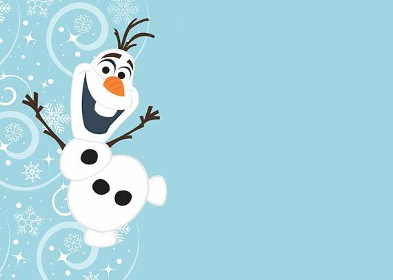 convite de festa do Olaf