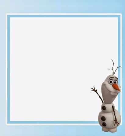 convite simples Olaf