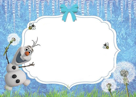 modelo de convite do Olaf
