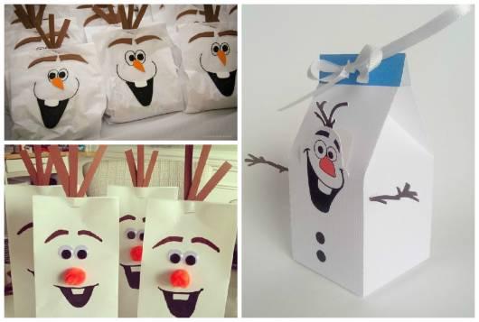 lembrancinha de festa do Olaf