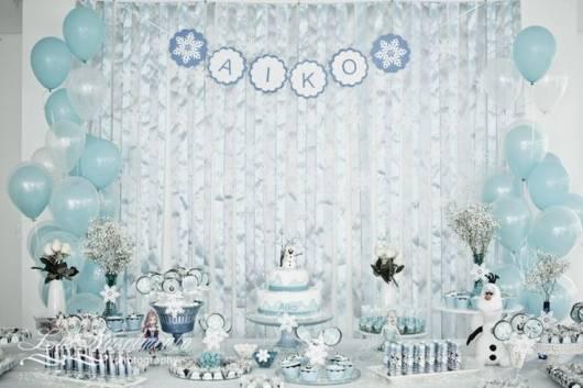 ideia para decorar festa do Olaf