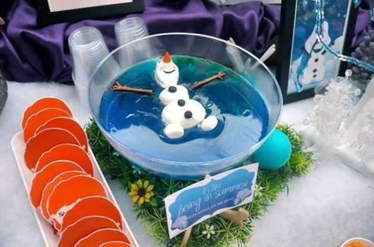 ideia de comida para festa do Olaf