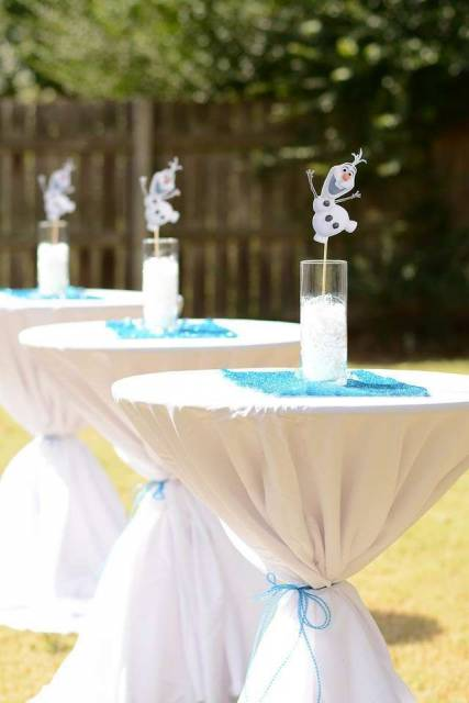 enfeite de mesa festa do Olaf