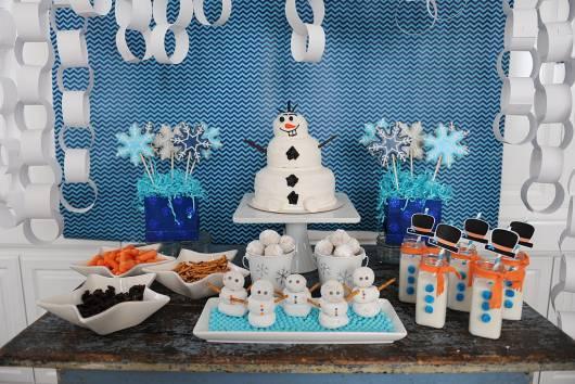 festa simples do Olaf