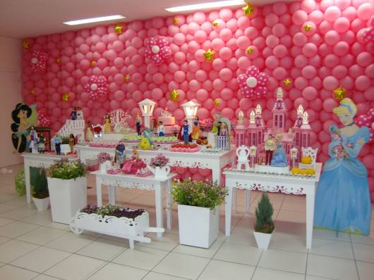 festa princesas disney provençal rosa