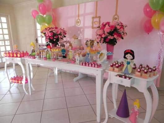 festa princesas provençal rosa