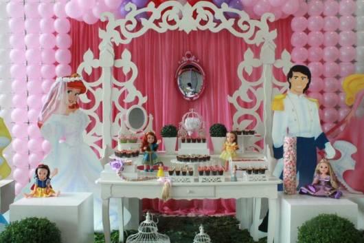 festa princesas provençal  rosa e branco