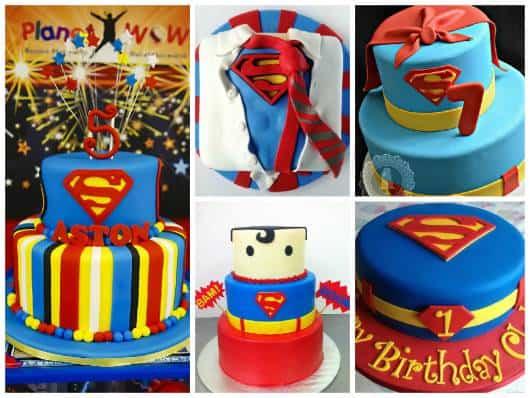 bolo de pasta americana do  super homem