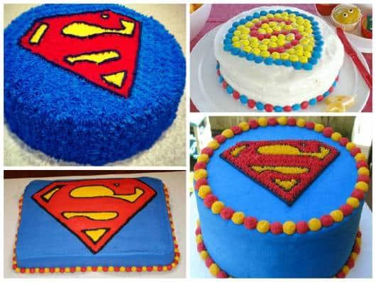 bolo decorado do  super homem