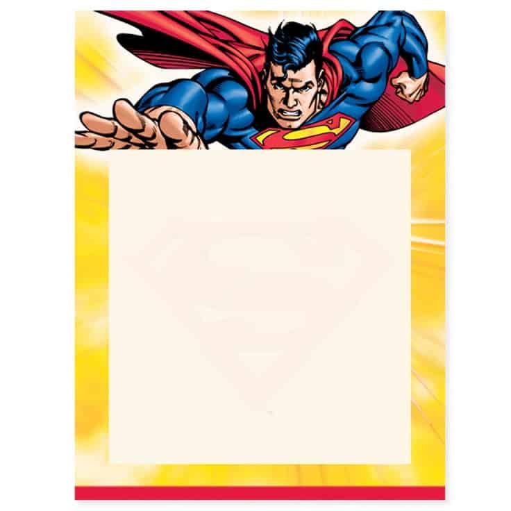 convite para imprimir do  super homem