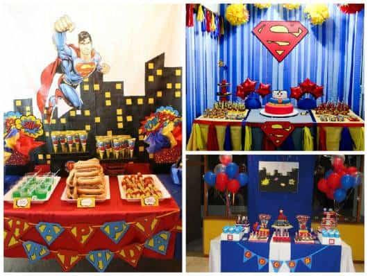 festas do  super homem simples