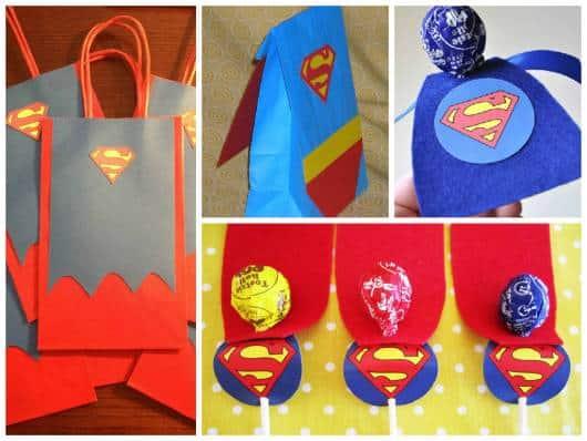 ideias de lembrancinha do  super homem