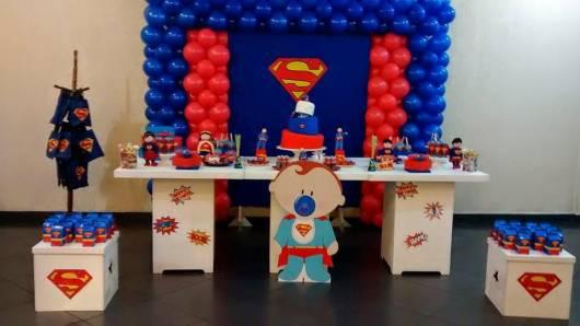 festa do  super homem para bebê